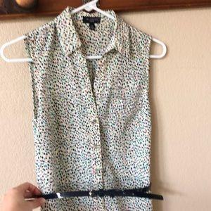 The Limited sleeveless shirt dress